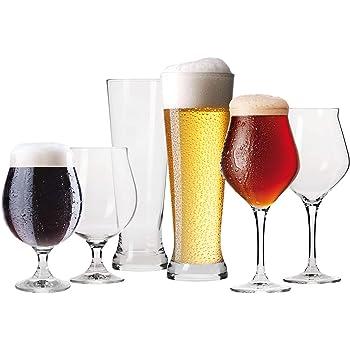 Krosno Verres à Bière Craft | Lot de 6 | Coffret Degustacion | Parfait la Maison, Les Restaurants Les fêtes | Va au Lave-Vaisselle au Micro-Ondes