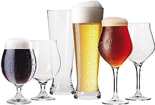 comprar comparacion Krosno Set de Degustación Cerveza Vasos Capos | Conjunto 6 Piezas Uso en Casa, Restaurante y en Fiestas | Apto para Microo...