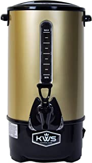 KWS WB-30 19.5L/ 83Cups Commercial Heat Insulated Water Boiler and Warmer Stainless Steel (Gold)