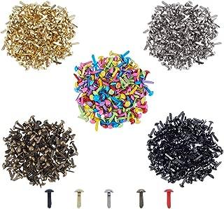 PH PandaHall 1000pcs 5 Colors Mini Brads Fasteners Metal Paper Fasteners Iron Plated Scrapbooking Brads for Crafts Making DIY