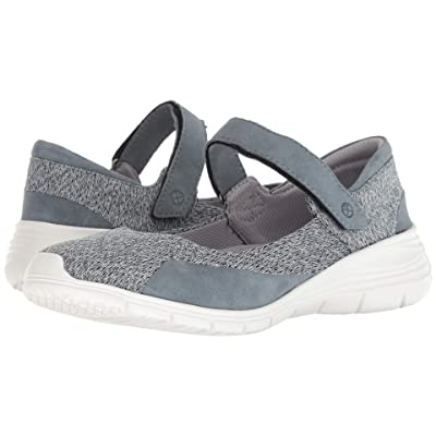 Hush Puppies Cypress Mary Jane (Storm Knit/Suede) Women