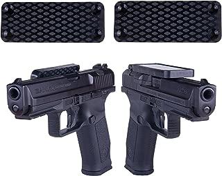 Magnetic Gun Mount & Holster W/ HQ Rubber Coated 35 Lbs Rated - Firearm Accessory. Concealed Holder For Handgun, Rifle, Shotgun, Pistol, Revolver, Truck, Car, Wall, Vault, Desk (2 Packs)