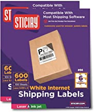 1200 Labels, 6up Size 4 x 3.33. Use with Word Templates. Labels are Compatible with all Ink Jet and Laser Printers (1,200 Labels)