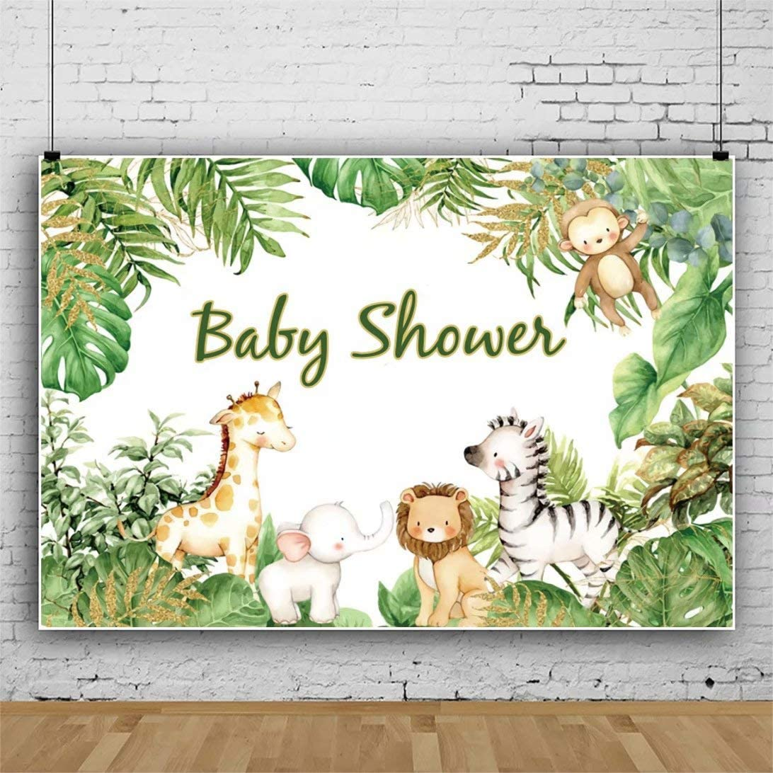 Safari Backdrop Party Animals Backdrops Jungle Theme Photography Backdrop Custom Newborn Baby Shower 15st Birthday Party Photo Backgrounds