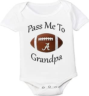 Future Tailgater Alabama Crimson Tide Pass Me to Grandpa Baby Onesie