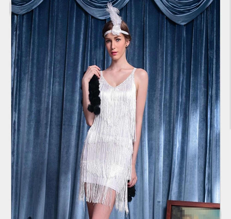 Strap fringed Latin dancer dress