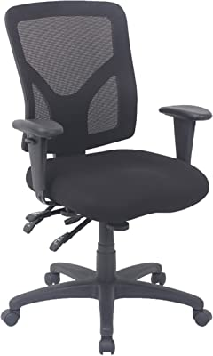 Global Office Furniture Mid Back Mesh Manager Chair, Black