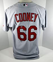 St. Louis Cardinals Tim Cooney #66 Game Issued Signed Grey Jersey - Game Used MLB Jerseys