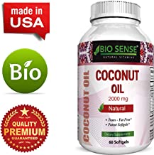 Organic Coconut Oil Softgels Weight Loss and Energy For Men & Women  Pure Cold Pressed Unrefined Boost Metabolism Immune Function Natural Dietary Supplement Hair Skin Detox Formula