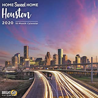 Home Sweet Home 2020 Houston Wall Calendars by Bright Day Calendars 16 Month Wall Calendars 12 x 12 inches