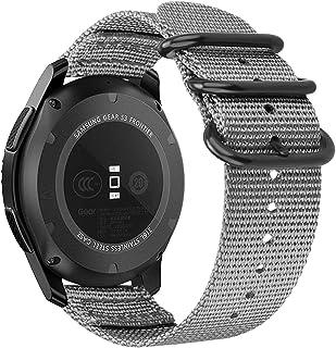 أحزمة ستان لي متوافقة مع Gear S3 / Galaxy Watch 3 45 مم / Galaxy Watch 46 مم، 22 مم سوار رياضي بديل سريع الفك قابل للتعديل...