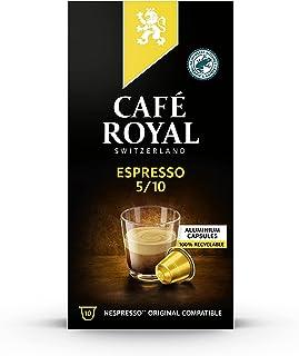 Café Royal Espresso 100 Capsules en Aluminium Compatibles avec le Système Nespresso (R)*; Intensité: 5/10; (Lot de 10X10)