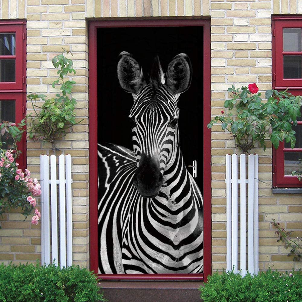 DIY Door Wall Stickers Murals for Zebra Brand Cheap Sale Cheap SALE Start Venue 34.6