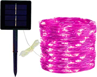 ARKIM 200LED((22M/72.18ft, 8Modes) Fairy lights Solar String Lights,solar lights outdoor garden, IP65 Waterproof Copper Wire Lights, for Garden Patio Yard Home Wedding Christmas Parties (Pink)