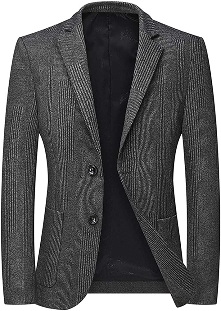 YFFUSHI Mens Casual Suit Jacket 2 Buttons Loose Fit Formal Daily Blazer Sport Coat