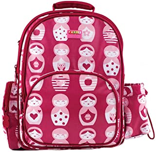 Penny Scallan Children's BPA Free Backpack - Pink Matryoshka Russian Nesting Doll