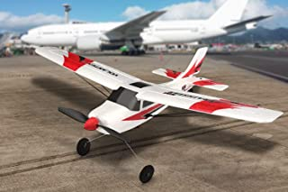 Funtech RC Airplane Remote Control Airplane 3 Channel RC Plane with 2.4ghz Radio Control 6 Axis Gyro, Durable Epp Foam Easy to Fly for Beginners,Great Little Plane for Your First RC Plane, Red