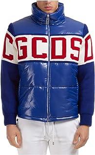 GCDS Band Logo Giubbotto Uomo Blue