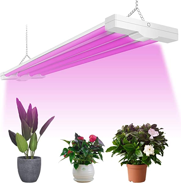 ANTLUX 4ft LED Grow Light 80W 600W Equivalent Full Spectrum Integrated Growing Lamp Fixture For Greenhouse Hydroponic Indoor Plant Seedling Veg And Flower Plug In With On Off Switch