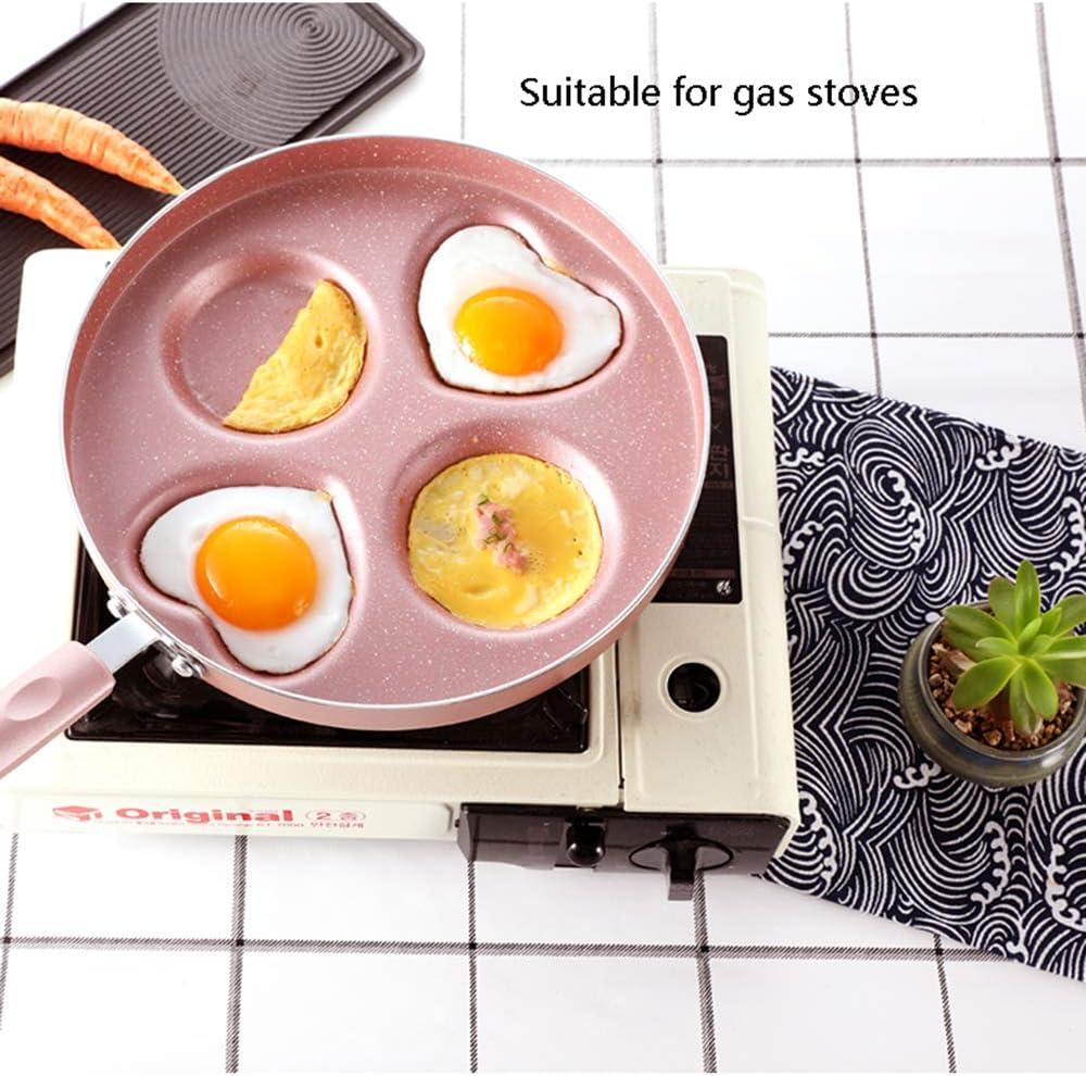 Baking tools Petit déjeuner Omelette Pot, Pot de boulette Oeuf Maison, Moule à Quatre Trous Omelette antiadhésive Moule ZDDAB Pink