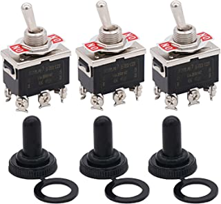 2 Years Warranty TEN-A-4210GR Twidec//2 Pcs Heavy Duty Rocker Toggle Switch 20A 125V DPST 2 Position 4 Pin ON//OFF Switch with PC Wear-resistant Handle