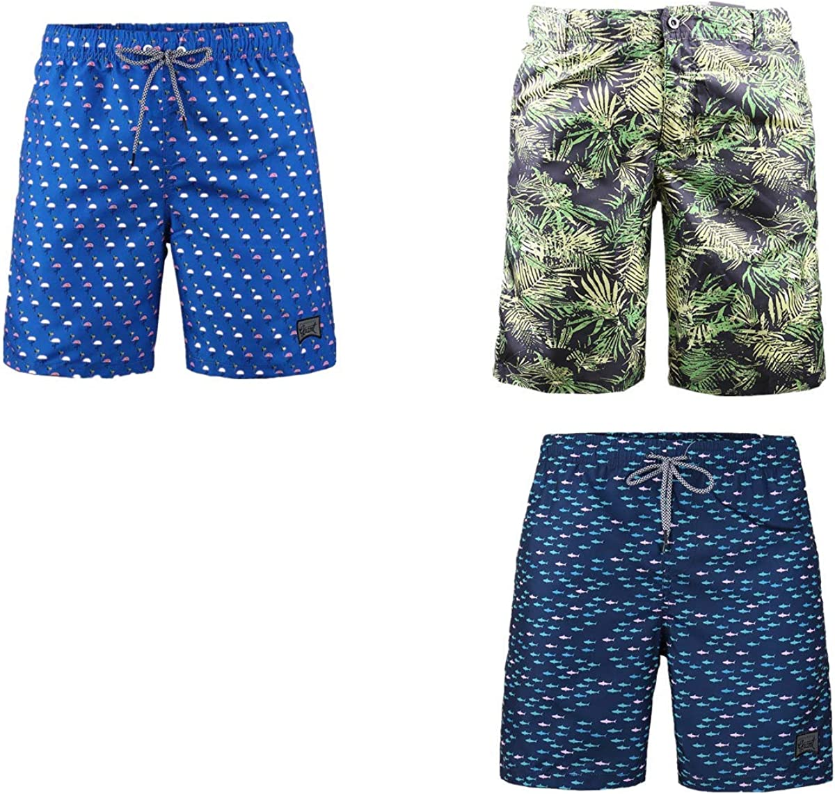 Beautiful Selling and selling Max 53% OFF Giant 3-Pack Men's Board Casual Shorts with Pockets Ha