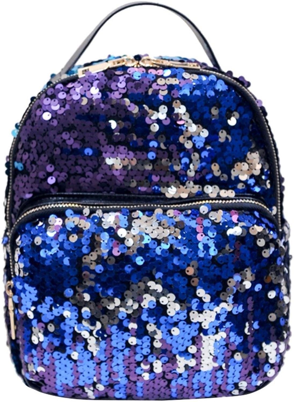 ASHIJIN Women Bag Sequins, Backpack Bling Female Backpack
