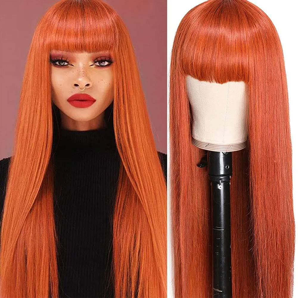 Rebecca Fashion Straight Human Hair Wigs with 130 Bangs Popular brand Manufacturer OFFicial shop