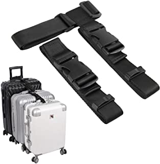 """Luggage Straps Add a Bag Suitcase piggyback Strap Belt,1.25""""W Adjustable Travel Attachment Accessories for Connect Your Th..."""