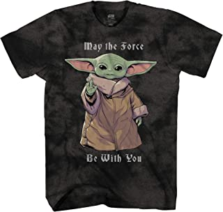 STAR WARS Baby Yoda May The Force Be with You The Mandalorian Men's Adult Graphic Tee T-Shirt