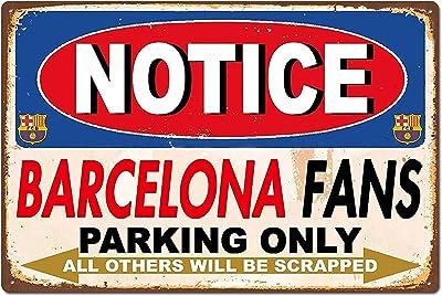 Mengliangpu8190 Plaque métallique rétro en aluminium avec inscription « Fans Parking Only » 20,3 x 30,5 cm
