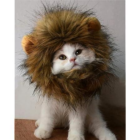 PenVinoo Lion Mane Wig for Dog and Cat Costume