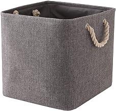 TheWarmHome Toy Bin Organizer Fabric Basket Storage Basket with Handles Nursery Storage Basket for Books, 11Lラ11Wラ11H Grey