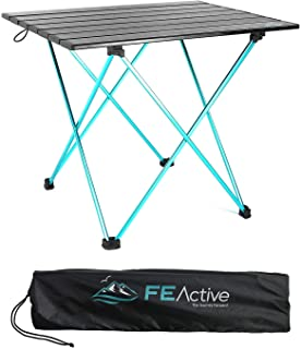 FE Active Camping Folding Table - Aluminum Joints, Compact, Lightweight Camping Table. Portable Outdoor Furniture for Picn...
