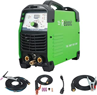 Reboot TIG Welding Machine 200A,110/220V Pulse Tig Welding Machine High Duty Cycle Full Digital Control Inverter Dual Volt TIG/TIG Pulse/Stick/ARC 3 in 1 High Frequency for Metal Copper Steel