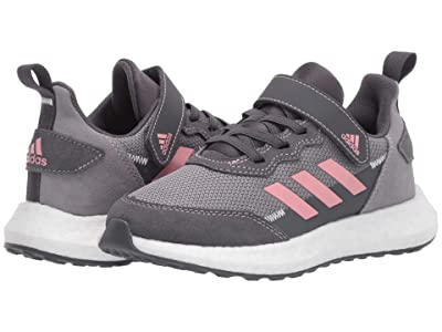 adidas Kids RapidaBoost SL EL (Little Kid) (Grey/Glory Pink/White) Girl