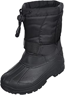 SkaDoo Boys' Snow Goer Boots - Black, 3 Youth