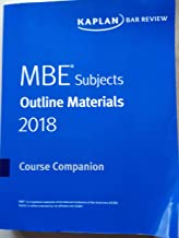 MBE Subjects- Outline Materials 2018 Course Companion