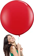36 Inch (3 ft) Giant Jumbo Latex Balloons (Premium Helium Quality), Pack of 6, Round Shape - Red, for Photo Shoot/Birthday/Wedding Party/Festival/Event/Carnival