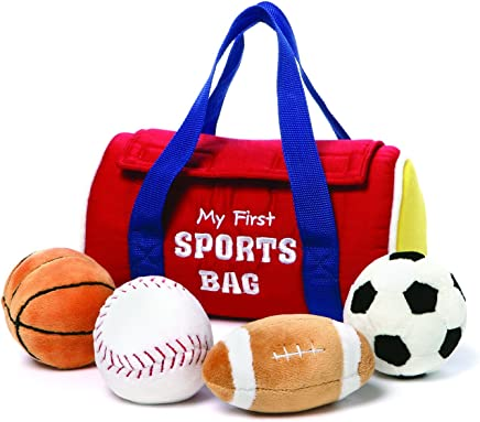 "GUND My First Sports Bag Stuffed Plush Playset, 5 Piece, 8"""