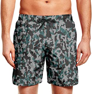 Men's Casual Shorts Camo Camouflage Army Swimming Trunks Cool Shorts