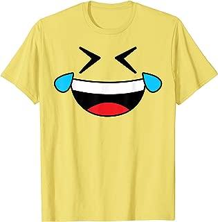 Halloween Emoji Costume Shirt Crying Laughing Emoticon Tears T-Shirt