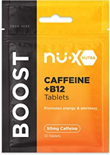 Nu-X Ventures Boost Caffeine Tablets - Pure Caffeine Pills 50mg for Energy and Mental Focus – Sugar-Free, Calorie-Free Caf...