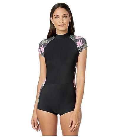 Hurley Lanai Short Sleeve Surf Suit (Anthracite) Women