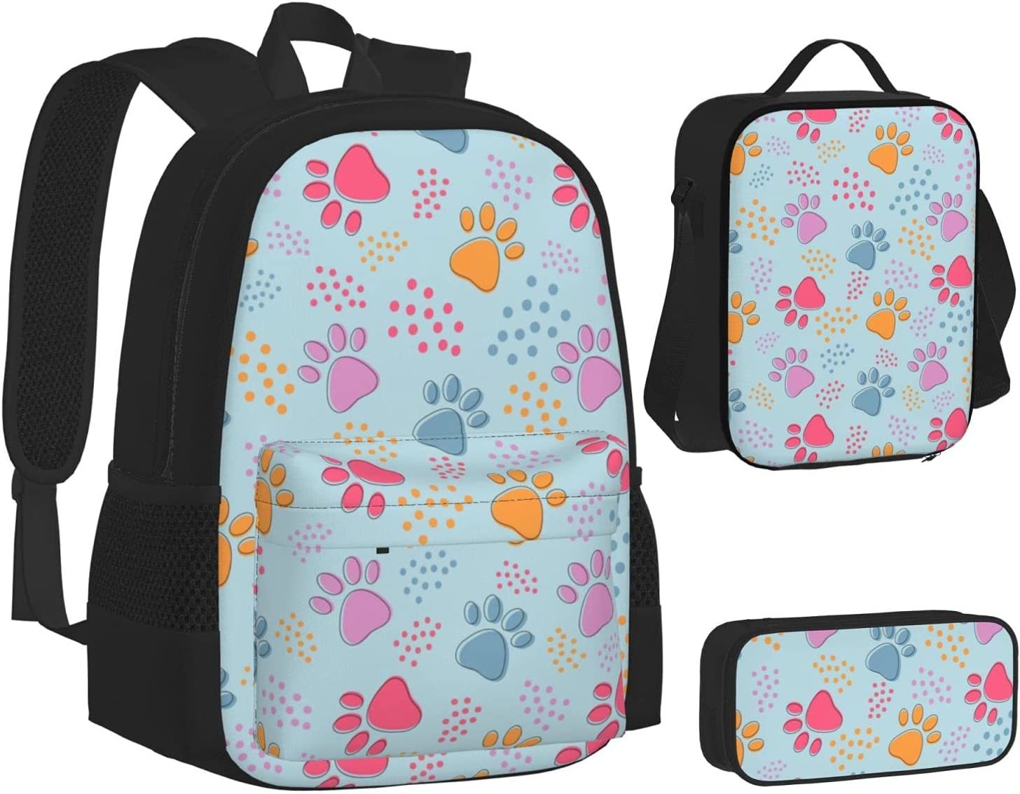 Inexpensive Lunch Selling Bag for Boys Girls,Colorful Backpack B Paw Dog and