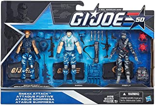 G.I. Joe, 50th Anniversary, Sneak Attack Action Figure Set [Specialist Dusty, Bazooka, and Firefly], 3.75 Inches