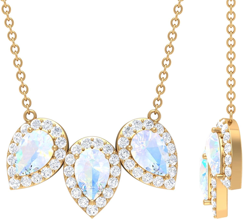 3 Industry No. 1 Leaf Necklace Diamond Excellent Statement Pendant Halo Necklac