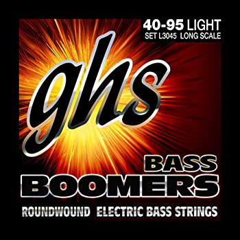 GHS Strings L3045 4-String Bass Boomers, Nickel-Plated Electric Bass Strings, Long Scale, Light (.040-.095)