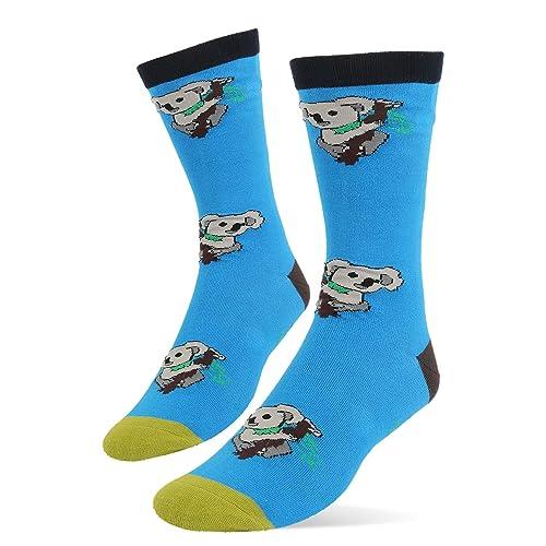 64f4d886e Novelty Funny Art Crew Socks for Men Colorful Cute Animal Crazy Food Cotton  Dress Socks