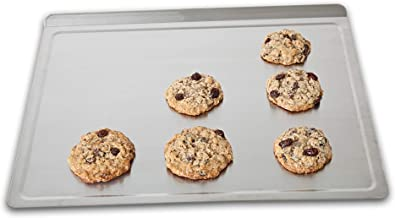 360 Stainless Steel Cookie Sheet, Handcrafted in the USA, 5 Ply, Surgical Grade Stainless Steel Bakeware, Dishwasher Safe, Baking Sheet, Roasting Pan, Pizza Pan (Large 18 Inch x 14 Inch)